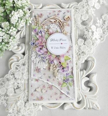 Kartki ślubne w fioletach…