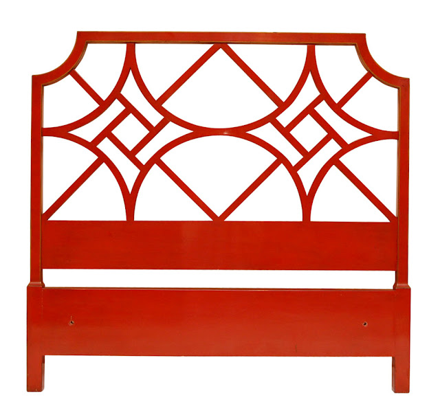 red headboard bed bedroom design chinese chippendale chinoiserie style