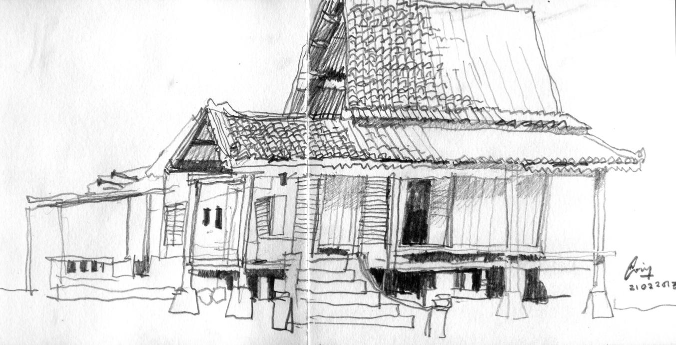 Gambar Pemandangan Rumah Kartun Gambar Pemandangan