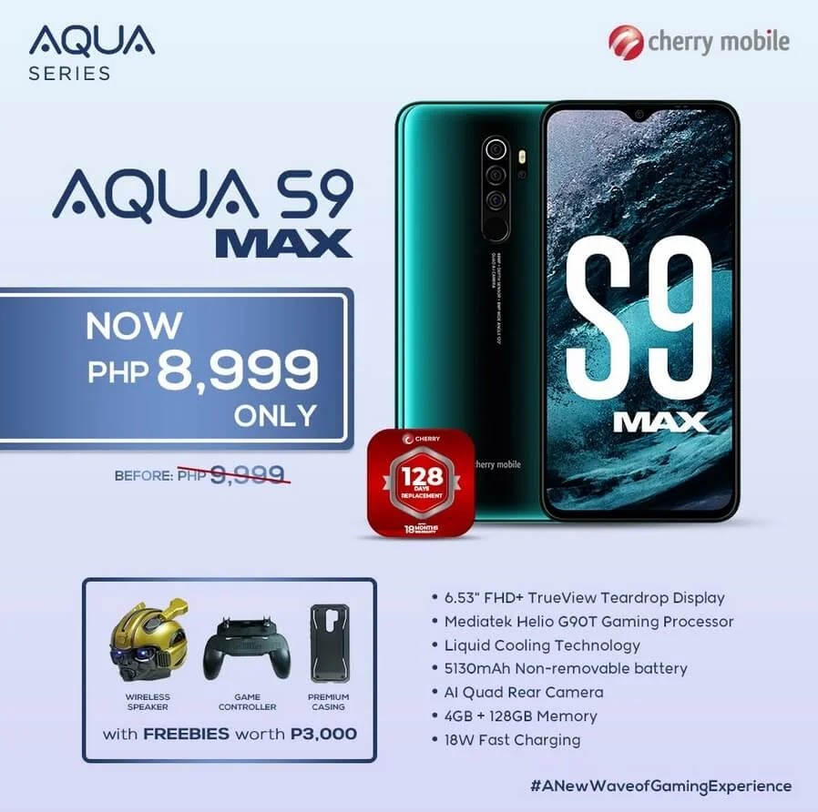 PRICE DROP ALERT: Cherry Mobile Aqua S9 Max with Helio G90T, 48MP Quad Camera, 5,130mAh Battery Now Only Php8,999