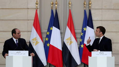Macron told a joint press conference with President Abdel Fattah el-Sisi