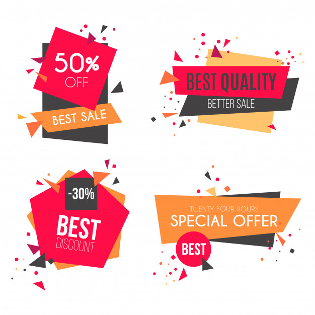 Modern Sale Badge Collection Free Vector