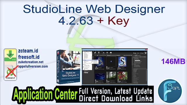 StudioLine Web Designer 4.2.63 + Key_ ZcTeam.id