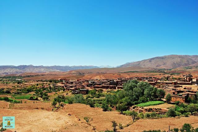De camino a Ait Ben Haddou, Marruecos