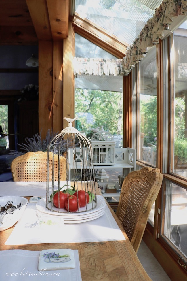 Southern facing windows are the best location for freshly picked tomatoes to continue to ripen