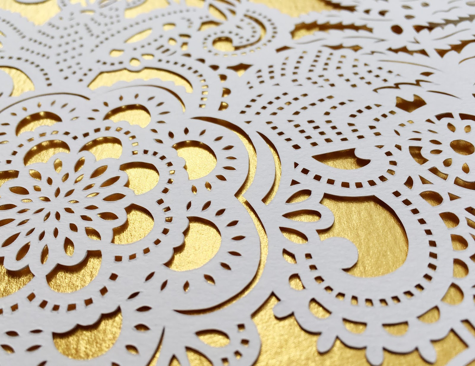Lacey detail of mandala - handmade by Woodland Papercuts