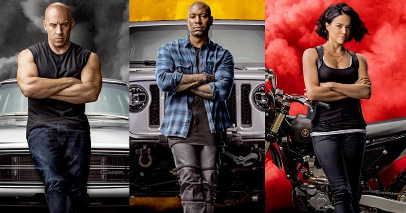 Velozes e Furiosos 9 - Poster Vin Diesel, Tyrese Gibson e Michelle Rodriguez