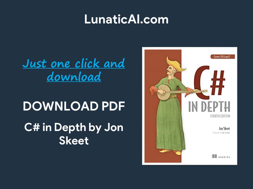 c# in depth, 4th edition pdf github