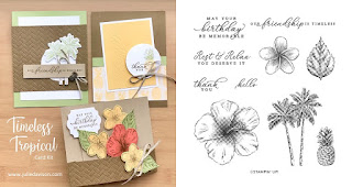 Stampin' Up! Timeless Tropical Card Kit  ~ 2020 Spring Mini Catalog ~ Stamp of the Month Club Card Kit ~ www.juliedavison.com