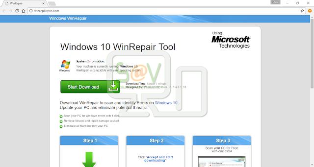 WinRepairPro.com pop-ups