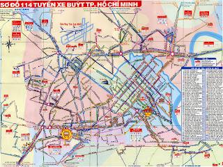 Plano de la red de transporte de Ciudad de Ho Chi Minh