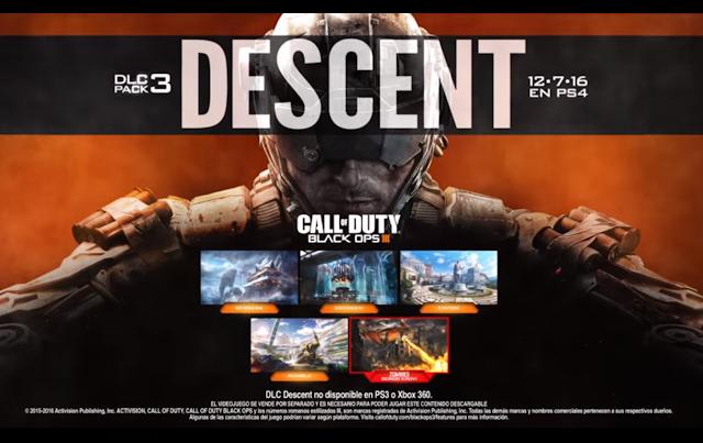 Descent de Black Ops III llegará a PS4 el 12 de julio 1