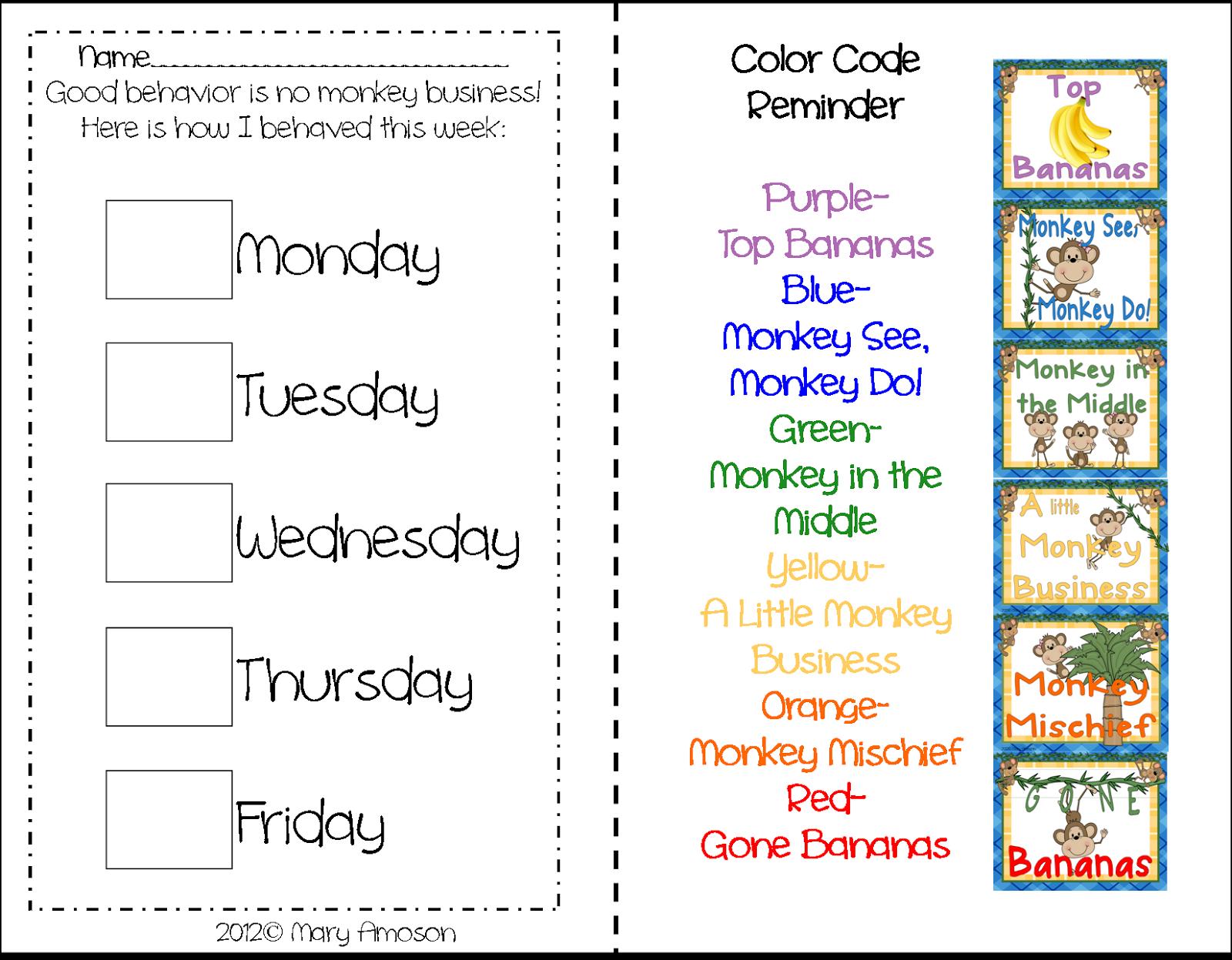behavior charts for preschoolers template - behavioral charts sharing kindergarten