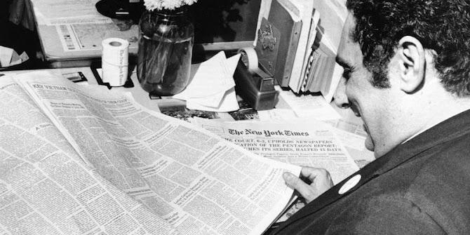 """Cinquant'anni fa cominciò la pubblicazione dei """"Pentagon Papers"""" (la stampa deve servire i governati, non i governanti)"""