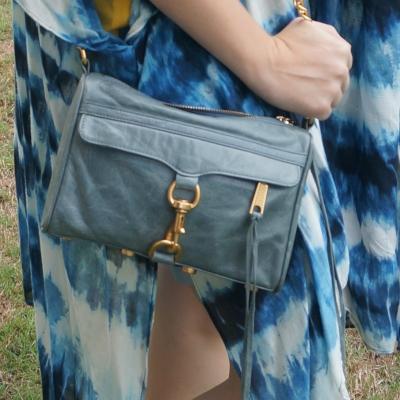 tie dye kimono with Rebecca Minkoff 2012 sky grey mini MAC bag | away from the blue