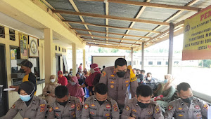 Wakapolres Tanjabbar Monitoring Giat Vaksinasi Ibu Hamil dan Remaja di Kecamatan Bram Itam