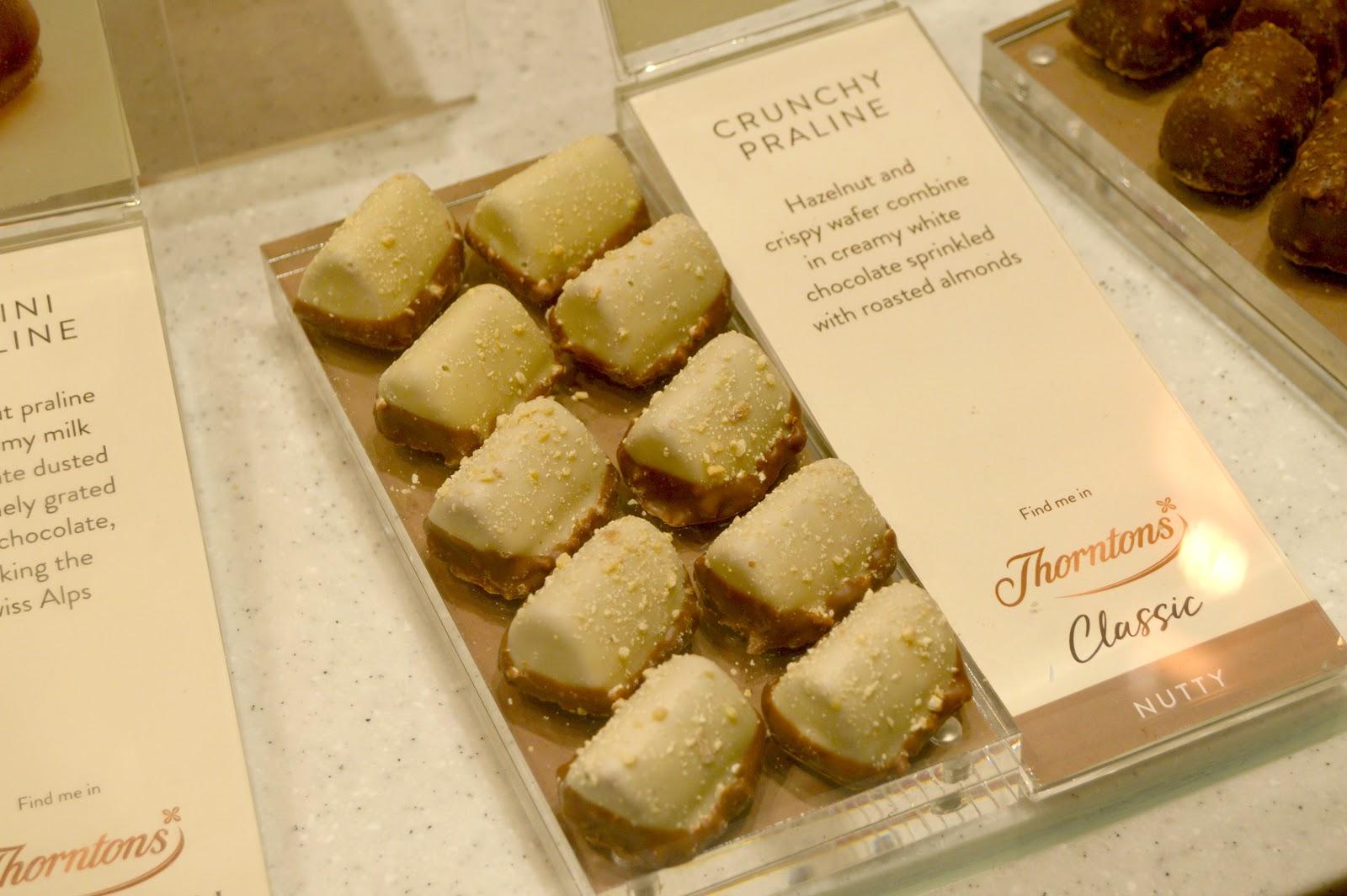 thorntons crunchy praline chocolates