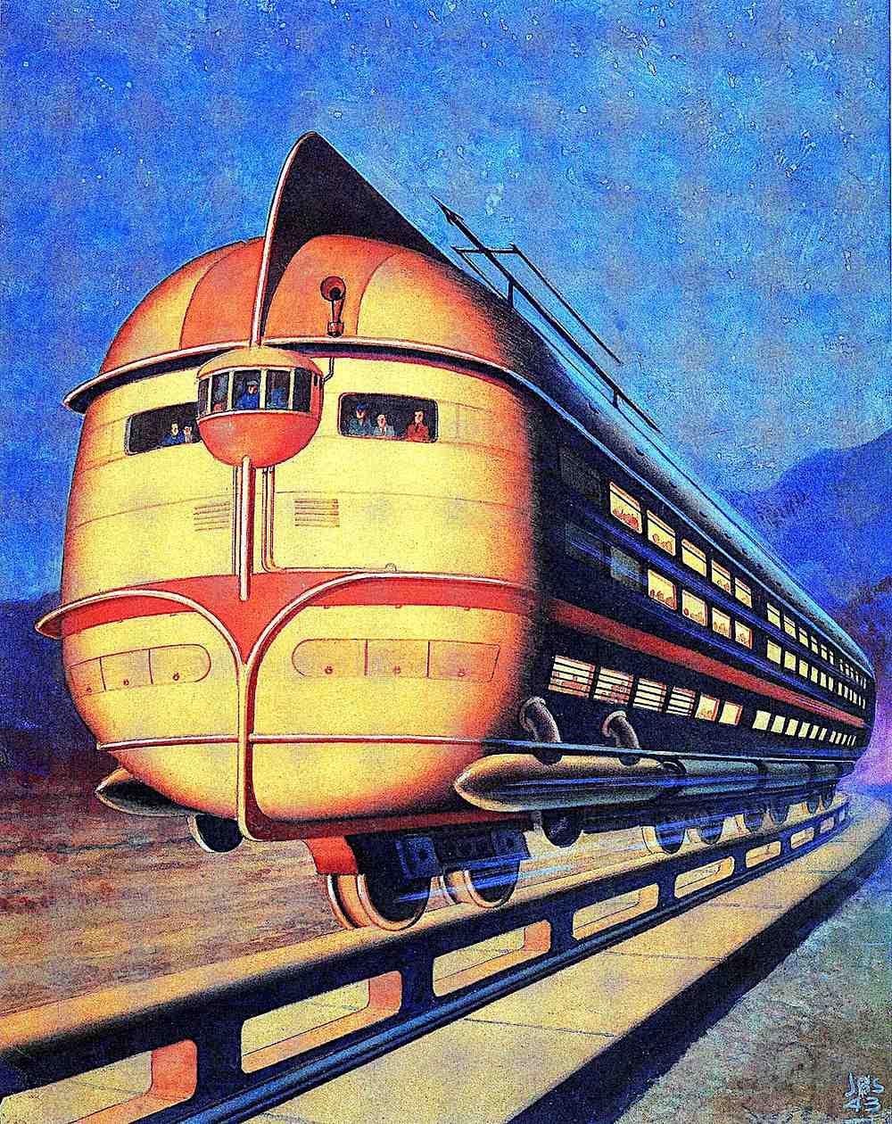 a 1943 future giant monorail, retrofuture