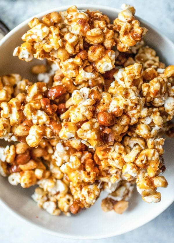 Spicy Caramel Popcorn Clusters