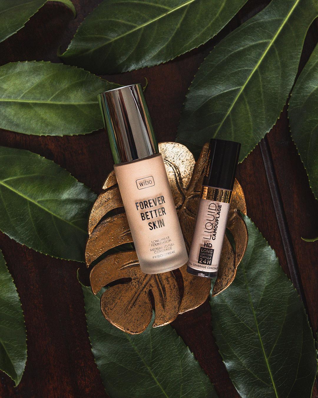 Ulubione kosmetyki do makijażu Wibo Forever Better Skin, Eveline Kryjacy korektor Liquid Camouflage