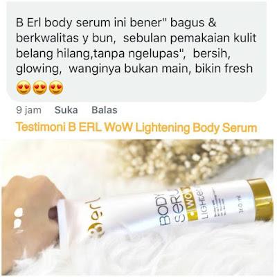 B Erl Body Serum WoW Lightening