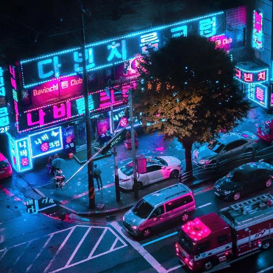 Neon Seoul Wallpaper Engine