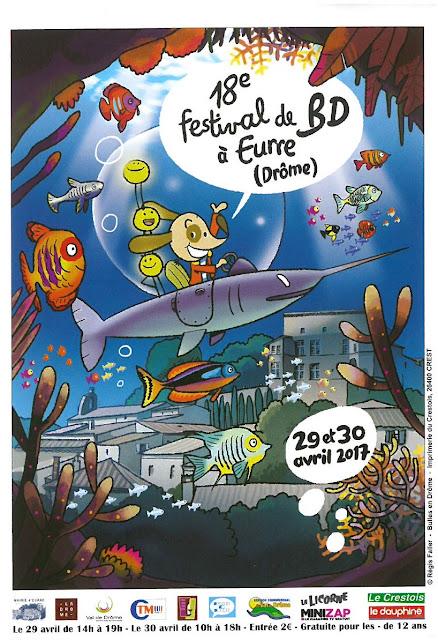 Affiche du 18eme Destival de BD de Eurre signée Regis Faller