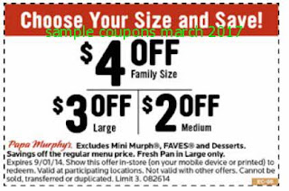 Papa Murphys coupons for march 2017