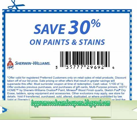Free Promo Codes And Coupons 2020 Sherwin Williams Coupons
