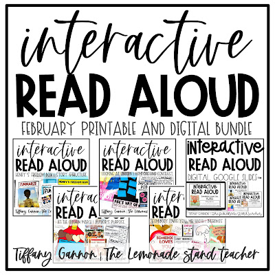February Read Alouds for Second Grade, February crafts for kids, February Digital Read Aloud Slides