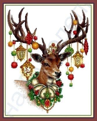 wzory świąteczne krzyżykami