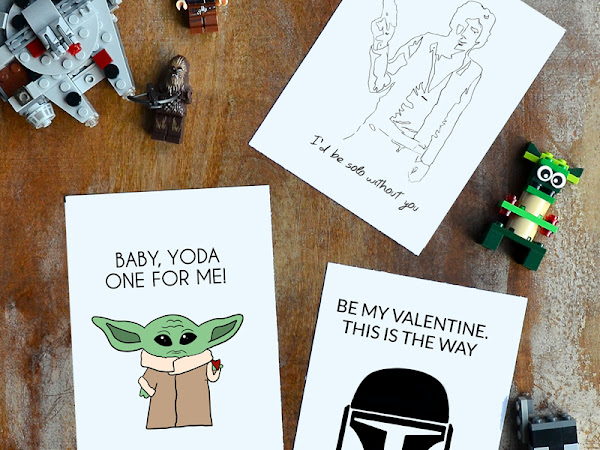 Baby Yoda and more Star Wars Valentines Free Printable