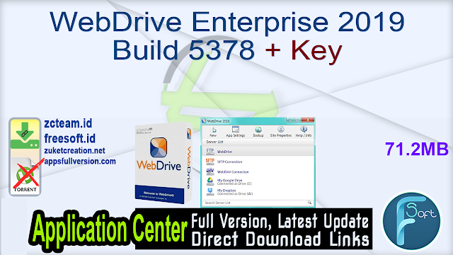 WebDrive Enterprise 2019 Build 5378 + Key _ ZcTeam.id