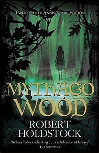 Book cover showing ghostly silhouette of a woman walking between misty tree, oak leaves and twigs in the foreground