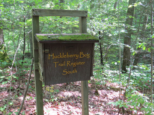 Huckleberry Bog trail register