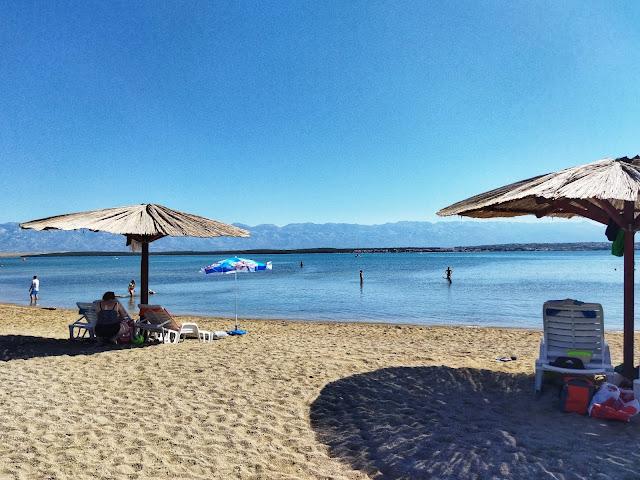 Nin plaża, Chorwacja, płytka woda dla maluchów