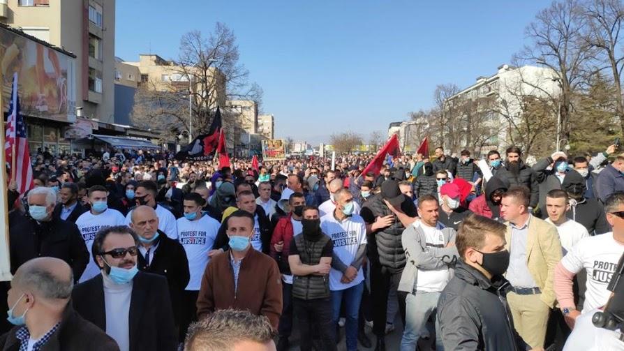 Σκόπια: Ένταση και μικροεπεισόδια σε διαδήλωση Αλβανών