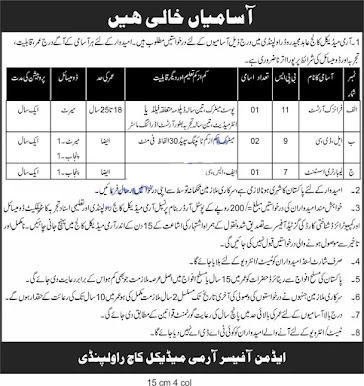 Army Medical college jobs 2021