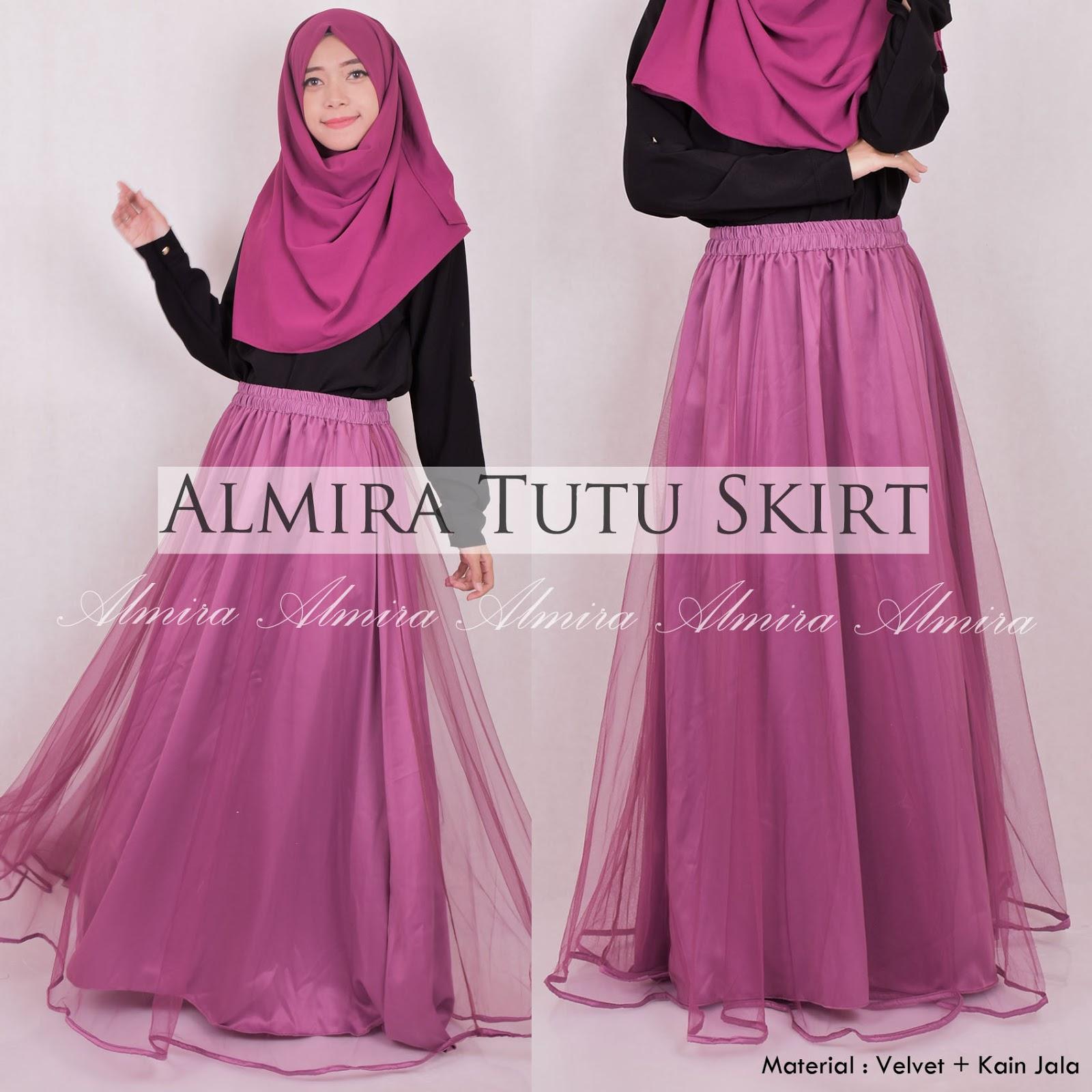 Rok Panjang Muslimah Almira Tutu Skirt 081372507000