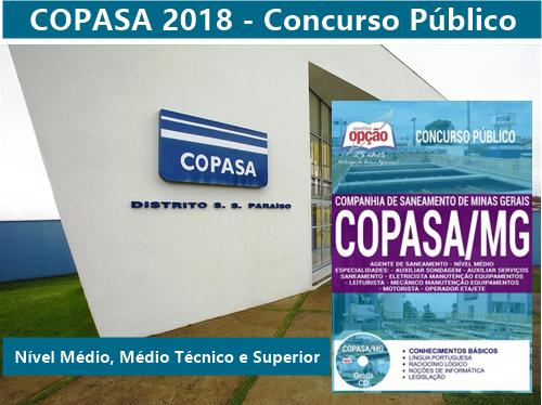 Apostila Copasa Agente de Saneamento 2018