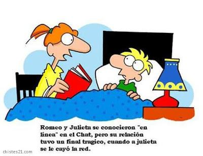 Meme de humor sobre Romeo y Julieta