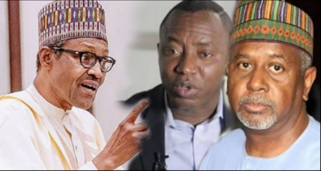FG Gives Dasuki and Sowore Two Conditions They Must Keep After Their Release