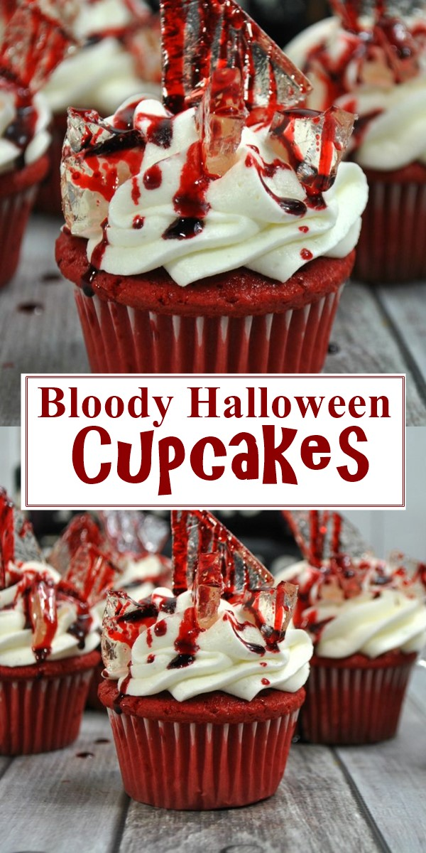Bloody Halloween Cupcakes #halloweenrecipes