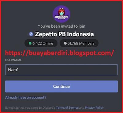 Cara membuat username discord PB Zepetto