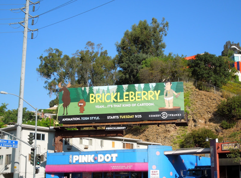 Brickleberry cartoon special extension billboard