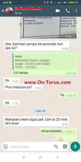 Mahabbah Cream Obat Kuat Oles Tanpa Efek Panas Terbaik Testimoni Puas Hanyak