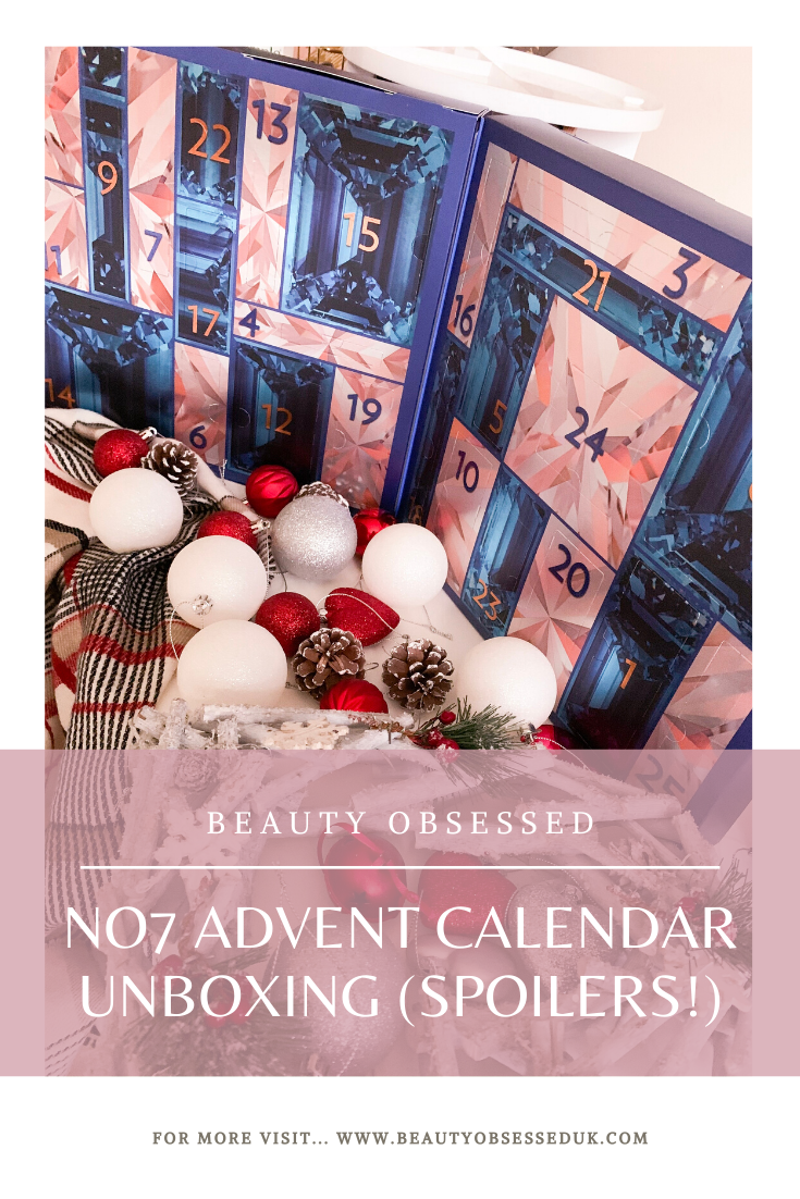 No7 Advent Calendar Unboxing Pinterest Graphic