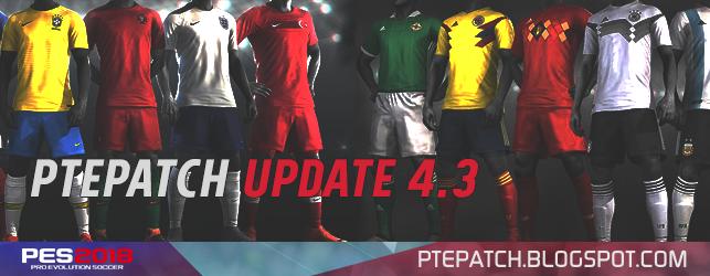 Update Patch PES 2018 dari PTE V4.3