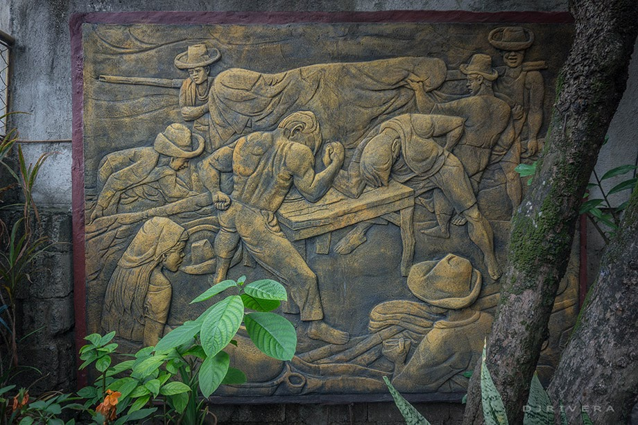 One of Angono's street murals inside the gates of Botong Francisco's house