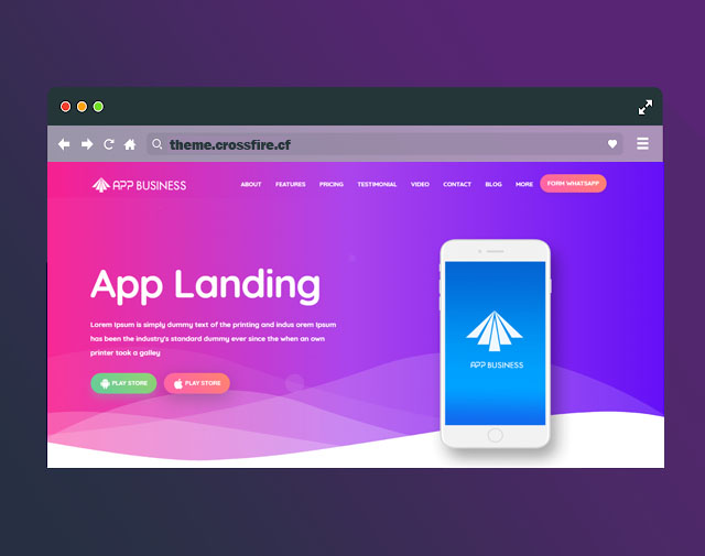 App Business Landing Page Responsive Blogger Template - Responsive Blogger Template